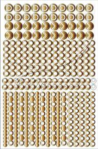 Samolepka pro nail art creativ kolečka zlatá