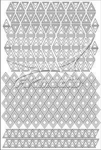 Samolepka pro nail art creativ trojúhelníky bílá