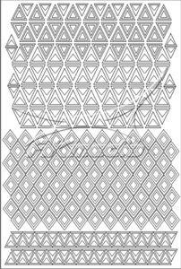 Samolepka pro nail art creativ trojúhelníky bílá AKmedia
