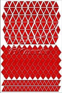 Samolepka pro nail art creativ trojúhelníky červená