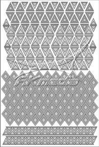Samolepka pro nail art creativ trojúhelníky stříbrná