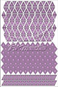 Samolepka pro nail art creativ trojúhelníky světlá fialová AKmedia