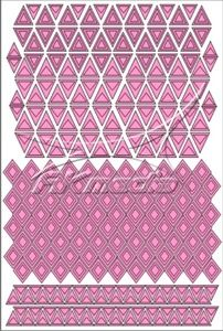 Samolepka pro nail art creativ trojúhelníky světlá růžová AKmedia
