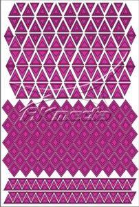 Samolepka pro nail art creativ trojúhelníky tmavá růžová