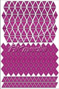 Samolepka pro nail art creativ trojúhelníky tmavá růžová AKmedia