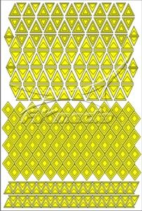 Samolepka pro nail art creativ trojúhelníky žlutá AKmedia