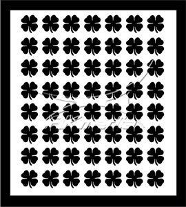 Samolepka pro nail art čtyřlístek černá AKmedia