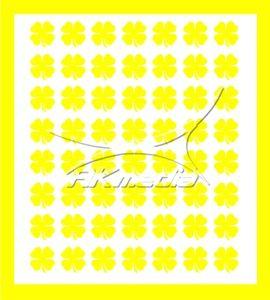 Samolepka pro nail art čtyřlístek žlutá AKmedia