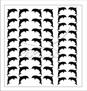 Samolepka pro nail art delfínci černá AKmedia