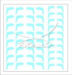 Samolepka pro nail art delfínci světlá modrá