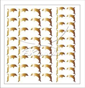 Samolepka pro nail art delfínci zlatá AKmedia
