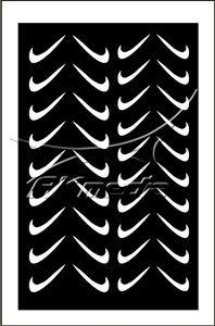 Samolepka pro nail art fajfka bílá AKmedia