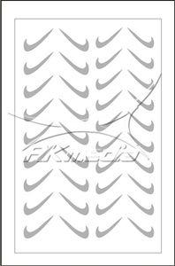 Samolepka pro nail art fajfka stříbrná AKmedia