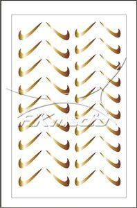 Samolepka pro nail art fajfka zlatá AKmedia