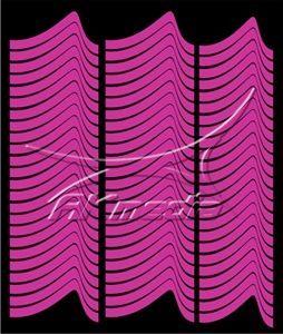 Samolepka pro nail art francie 01 pink