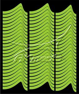 Samolepka pro nail art francie 01 světlá zelená AKmedia