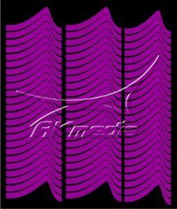 Samolepka pro nail art francie 01 tmavá fialová