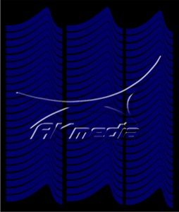 Samolepka pro nail art francie 01 tmavá modrá AKmedia