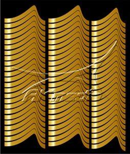 Samolepka pro nail art francie 01 zlatá AKmedia