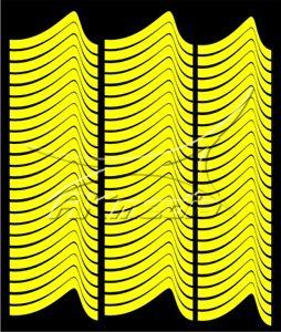 Samolepka pro nail art francie 01 žlutá AKmedia