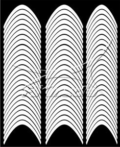 Samolepka pro nail art francie 02 bílá AKmedia
