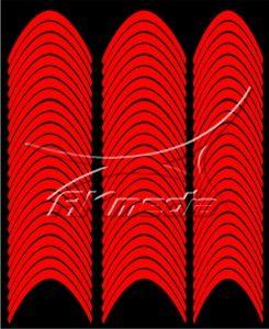 Samolepka pro nail art francie 02 červená AKmedia