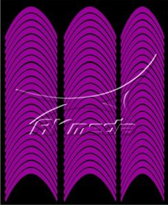Samolepka pro nail art francie 02 tmavá fialová AKmedia