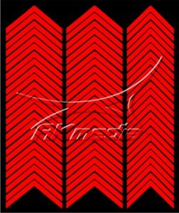Samolepka pro nail art francie 03 červená AKmedia