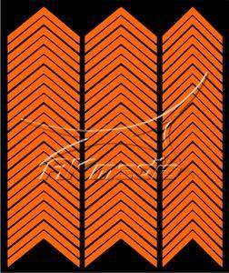 Samolepka pro nail art francie 03 oranžová