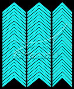 Samolepka pro nail art francie 03 světlá modrá AKmedia