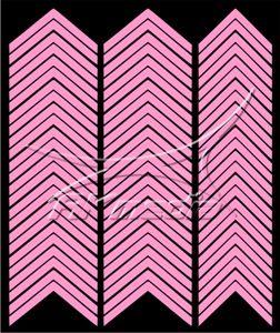 Samolepka pro nail art francie 03 světlá růžová AKmedia