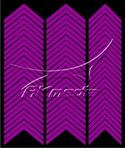 Samolepka pro nail art francie 03 tmavá fialová AKmedia