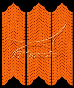 Samolepka pro nail art francie 04 oranžová AKmedia