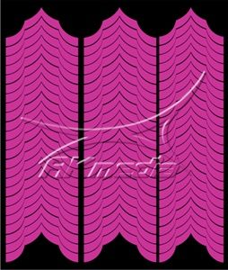 Samolepka pro nail art francie 04 pink AKmedia