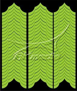 Samolepka pro nail art francie 04 světlá zelená AKmedia