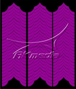 Samolepka pro nail art francie 04 tmavá fialová AKmedia