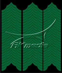 Samolepka pro nail art francie 04 tmavá zelená AKmedia