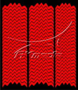 Samolepka pro nail art francie 05 červená AKmedia