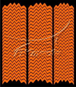 Samolepka pro nail art francie 05 oranžová