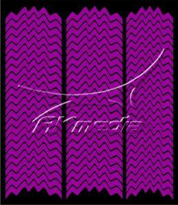Samolepka pro nail art francie 05 tmavá fialová AKmedia