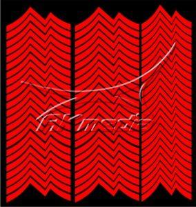 Samolepka pro nail art francie 06 červená AKmedia
