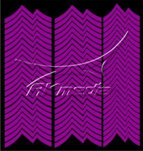 Samolepka pro nail art francie 06 tmavá fialová