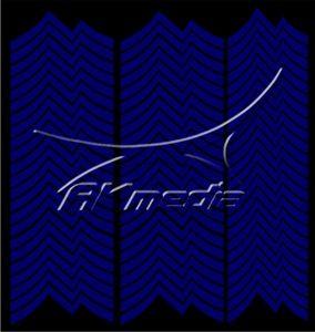 Samolepka pro nail art francie 06 tmavá modrá AKmedia