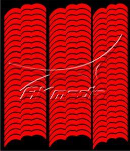 Samolepka pro nail art francie 07 červená AKmedia