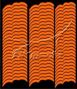 Samolepka pro nail art francie 07 oranžová AKmedia