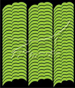 Samolepka pro nail art francie 07 světlá zelená AKmedia