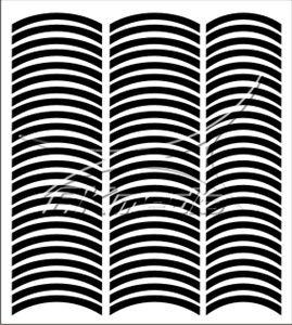 Samolepka pro nail art francie 08 černá AKmedia