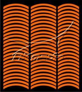 Samolepka pro nail art francie 08 oranžová