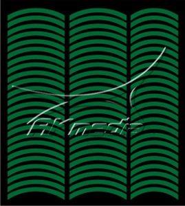 Samolepka pro nail art francie 08 tmavá zelená AKmedia