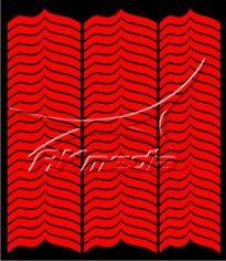 Samolepka pro nail art francie 09 červená AKmedia